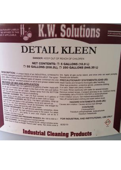 KW Solutions Detail Kleen - Industrial Strength Vehicle Wash